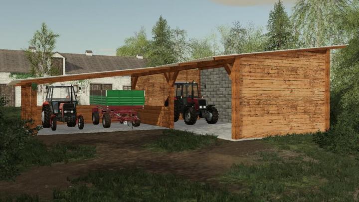 FS19 - Wooden Shed Pack V1