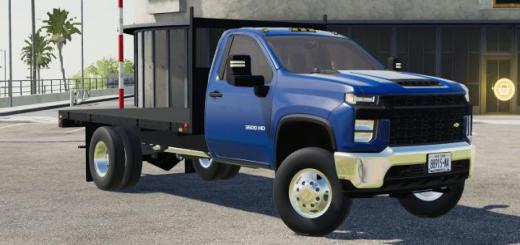 Photo of FS19 – 2020 Chevy 3500Hd Single Cab Flatbed Truck V1
