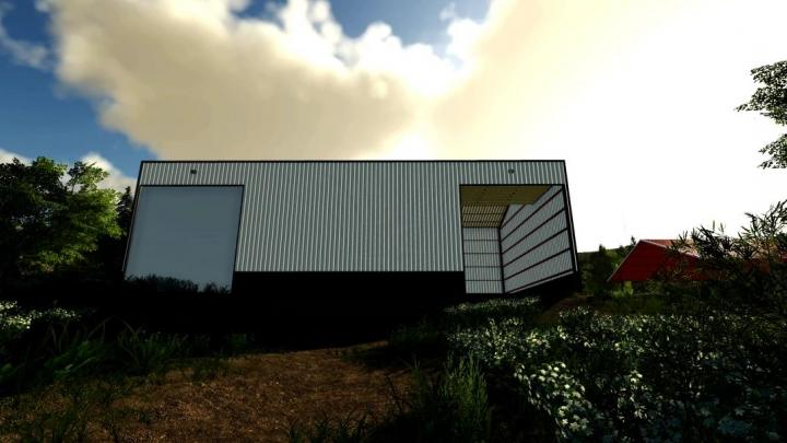 FS19 - 60X100 Foot Red Iron Shop V1.1