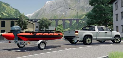 Photo of FS19 – Boat Trailer V1