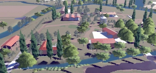 Photo of FS19 – Lands Of River Po Map V1