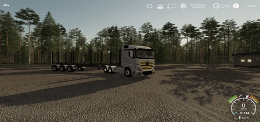 Photo of FS19 – Mercedes Actros Uneal V1.0.0.5