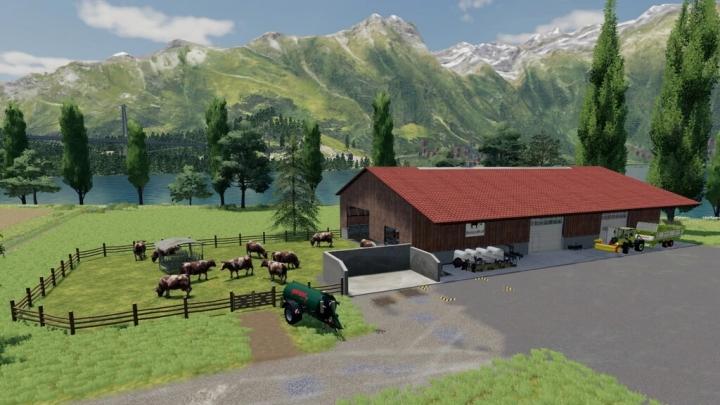FS19 - Modern Cowstable V1