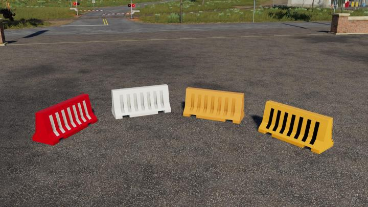 FS19 - Plastic Road Barrier V1.1