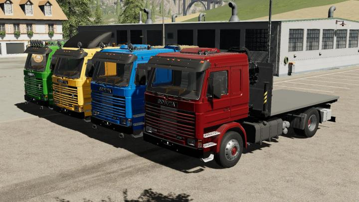 FS19 - Scania 113H Sidedoors + Crane V1