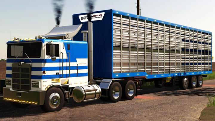FS19 - Tlx 48Ft Livestock Trailer V1