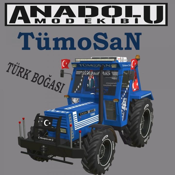 FS19 - Tumosan 8000 Blue Tractor V1