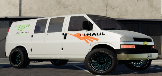 Photo of FS19 – 2005 Chevy Express Van Uhaul Custom V1.1