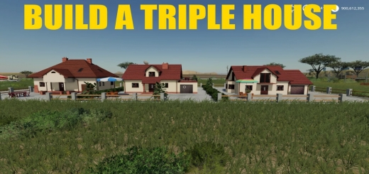 Photo of FS19 – Build A Triple House V1.0