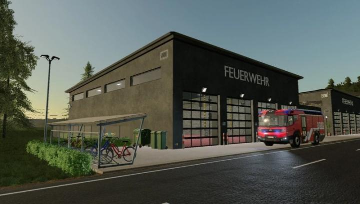 FS19 - Fire Station For Professional Fire Brigades V1