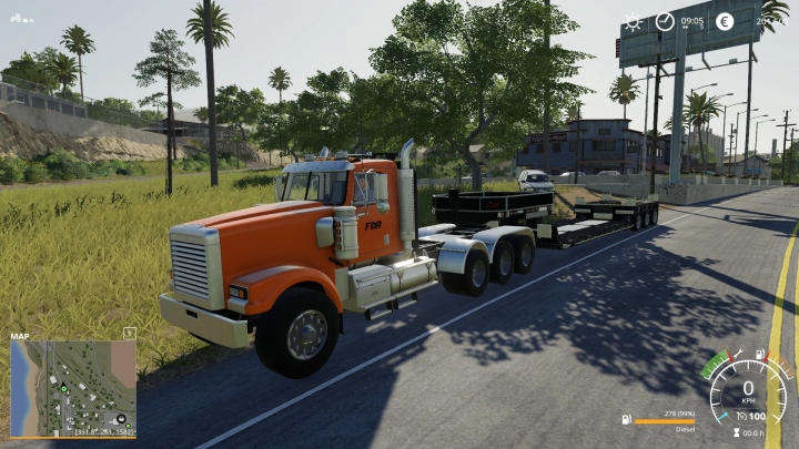 FS19 - Giants Hauler Truck 1 + Lowbed Gooseneck V1