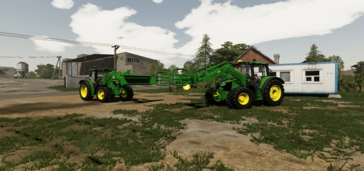 Photo of FS19 – John Deere Front Loaders With Tools V1.0