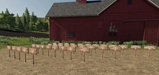 Photo of FS19 – Platzierbare Farm Schilder V1.0