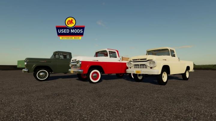 FS19 - 1960 Ford F100 4X4 V1.0