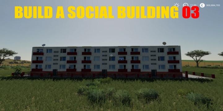 FS19 - Build A Social Building 03 V1.0