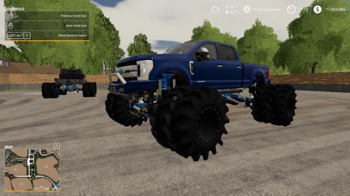 FS19 - F250 Superduty Monster Truck V1.0