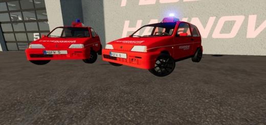 Photo of FS19 – Fiat Cinquecento 1991 Fire Brigade Hanover V1.0