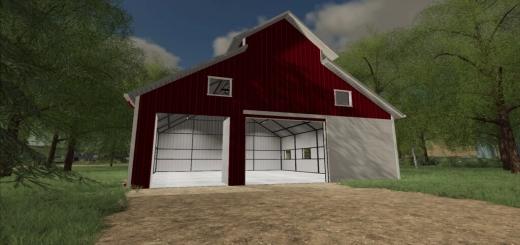 Photo of FS19 – Modern Red Barn V1.0
