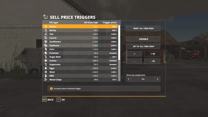 FS19 - Sell Price Trigger V1.0