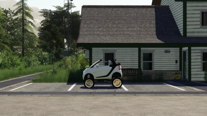 FS19 - Clapped Out Lifted Smart Car V1.0