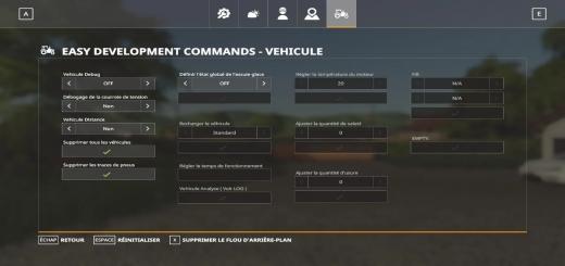 Photo of FS19 – French Easy Development Controls 2 V1.0
