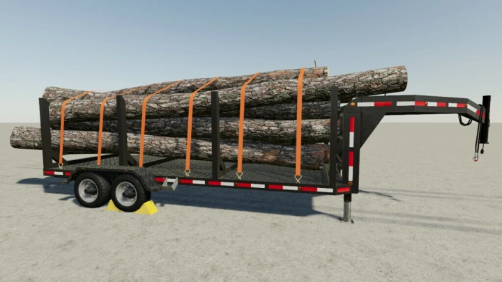 FS19 - Small Flatbed Trailer With Tipper/Logging Options V1.0.0.1