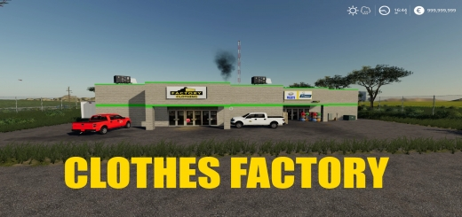 Photo of FS19 – Clothes Factory V1.0