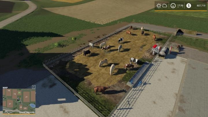 FS19 - Feedlot For Cows V1.0
