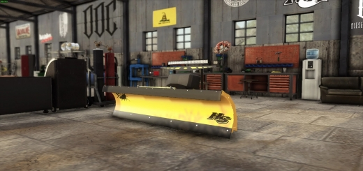 Photo of FS19 – Fisher Hs 722 Snow Plow With Lightbars V1.0