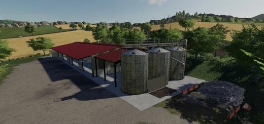Photo of FS19 – Grain Buildings With Silo V1.0