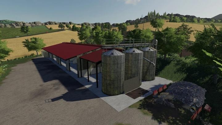 FS19 - Grain Buildings With Silo V1.0