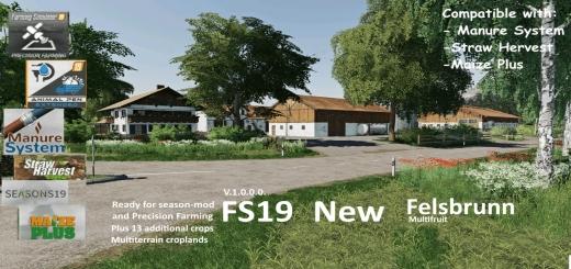 Photo of FS19 – New Felsbrunn (Multifruit) V1.0.0.1