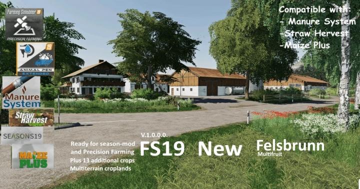 FS19 - New Felsbrunn (Multifruit) V1.0.0.1