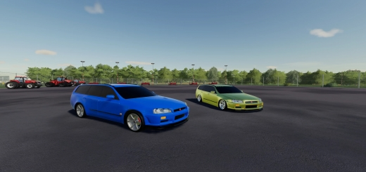 Photo of FS19 – Nissan Stagea With R34 Conversion V1.0