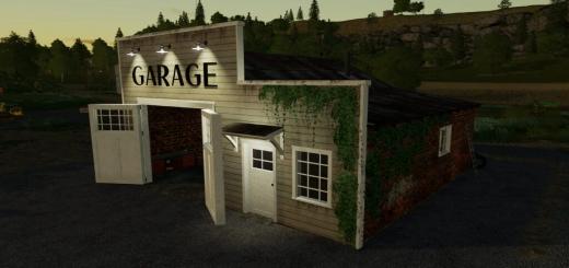 Photo of FS19 – Old American Garage V1.0