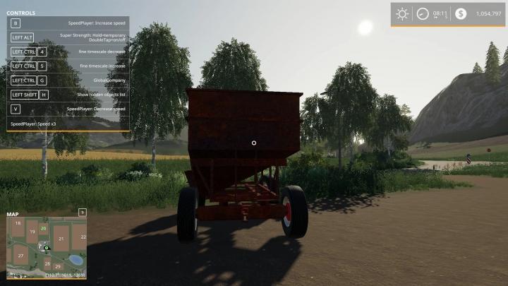 FS19 - Rusty Gravity Wagon V1.0