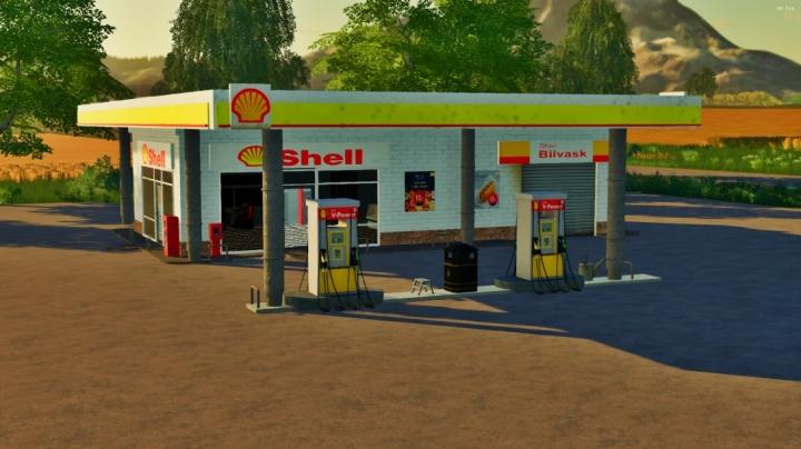 FS19 - Shell Fuel Station V1.1