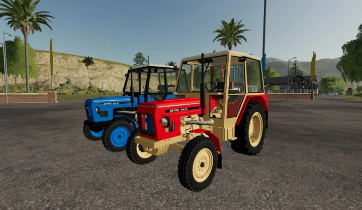 FS19 - Zetor 6911 Red And Blue Tractor V1.0