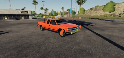Photo of FS19 – Chevy 1500 Oversize Load/Pilot Car (Vector Edition) V1.0
