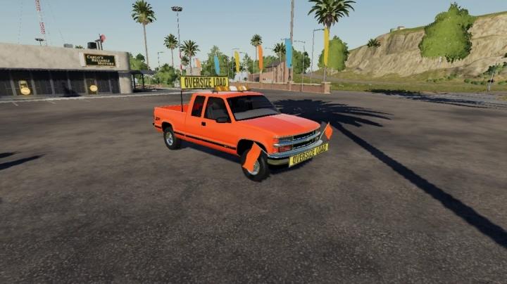 FS19 - Chevy 1500 Oversize Load/Pilot Car (Vector Edition) V1.0