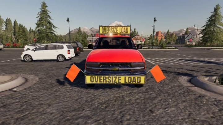 FS19 - Chevy S10 Oversize Load/Pilot Car V1.0