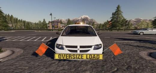 Photo of FS19 – Dodge Grand Caravan Oversize Load/Pilot Car V1.0