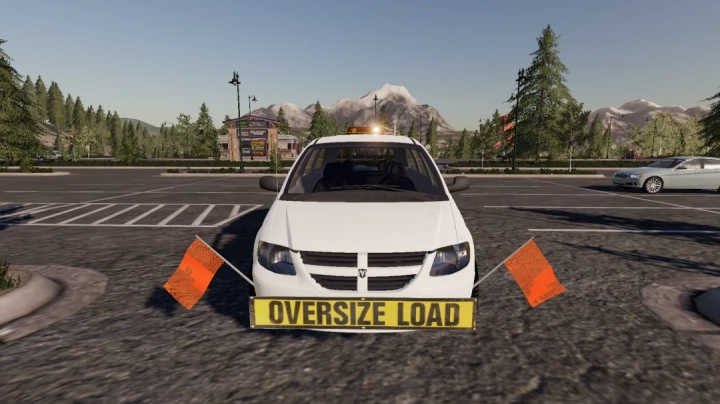 FS19 - Dodge Grand Caravan Oversize Load/Pilot Car V1.0
