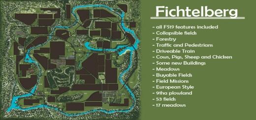 Photo of FS19 – Fichtelberg Map V1.0