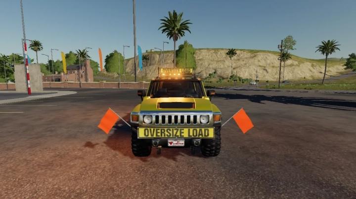 FS19 - Hummer H3 Oversize Load/Pilot Car V1.0