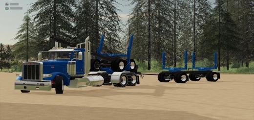 Photo of FS19 – Peterbilt 389 Log Trucks V1.0