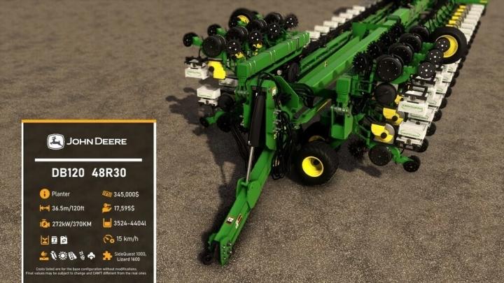FS19 - John Deere Db120 V1.0.0.1